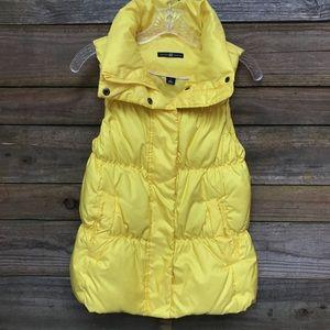 GAP Golden Yellow Down Vest Small